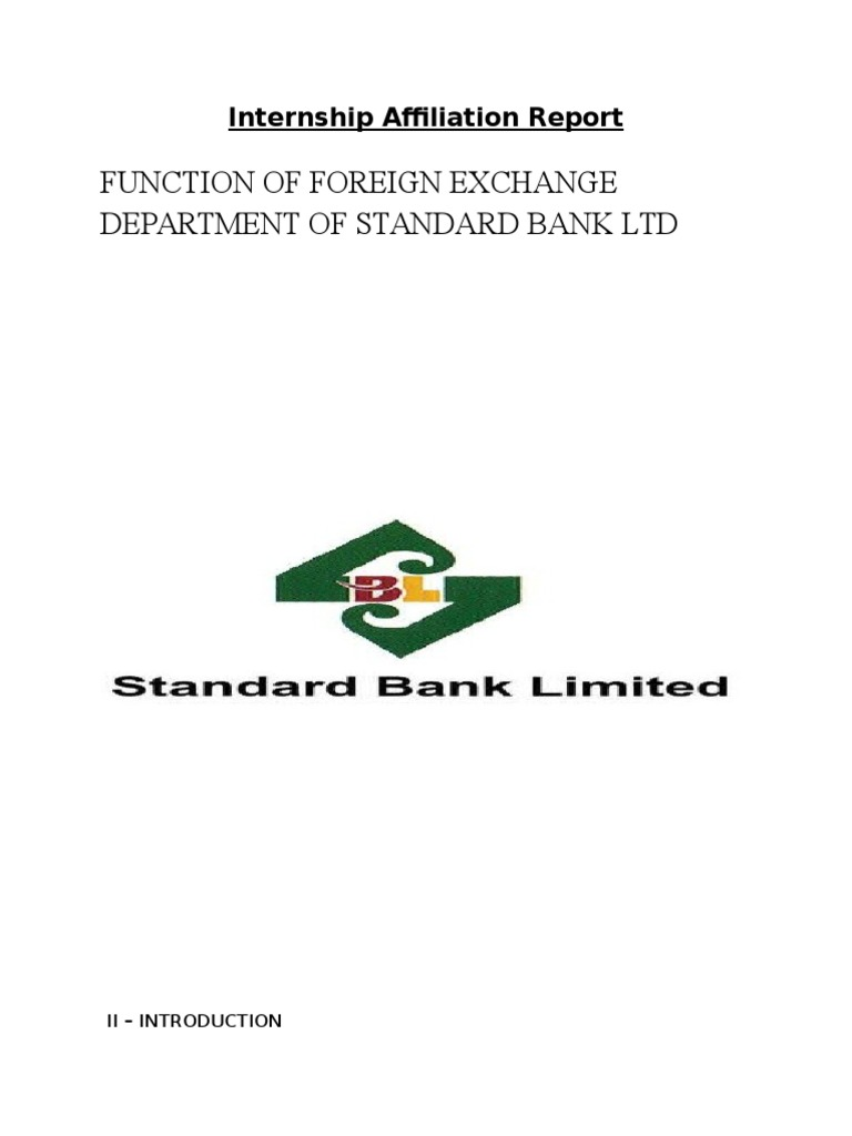 internship report on foreign exchange department Internship report on foreign exchange operation: a study on basic bank limited this report aims toward providing an overview on the foreign exchange operation bank asia limited.
