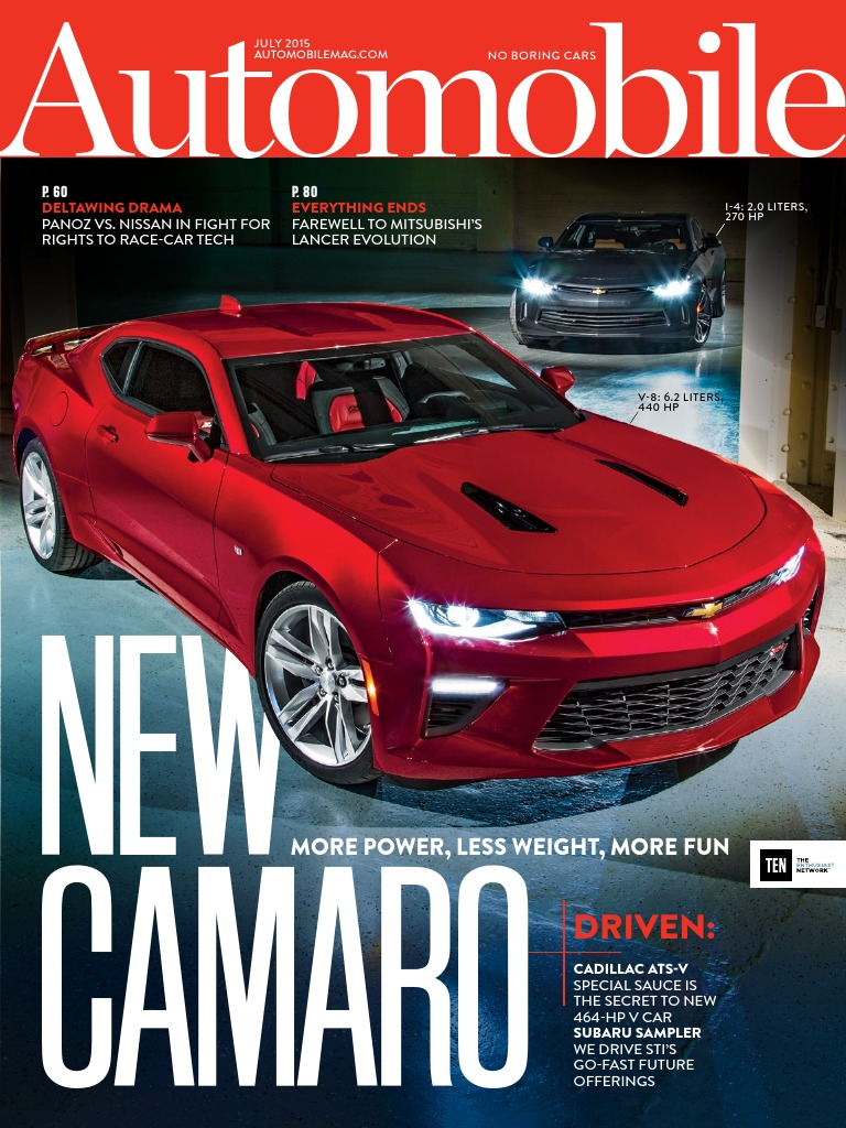 Automobile July 2015 Usa It Has A 350cubic Inch Limit And 335 Horsepower With V8 Engine