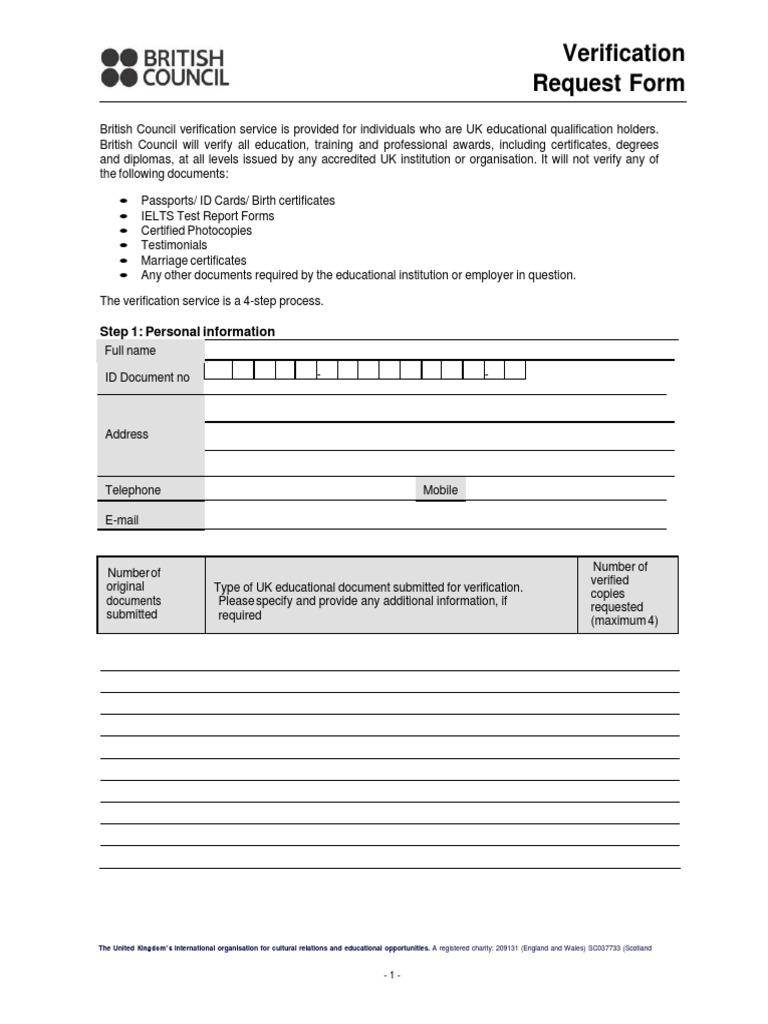 Verification Application Form 2 - DocShare.tips