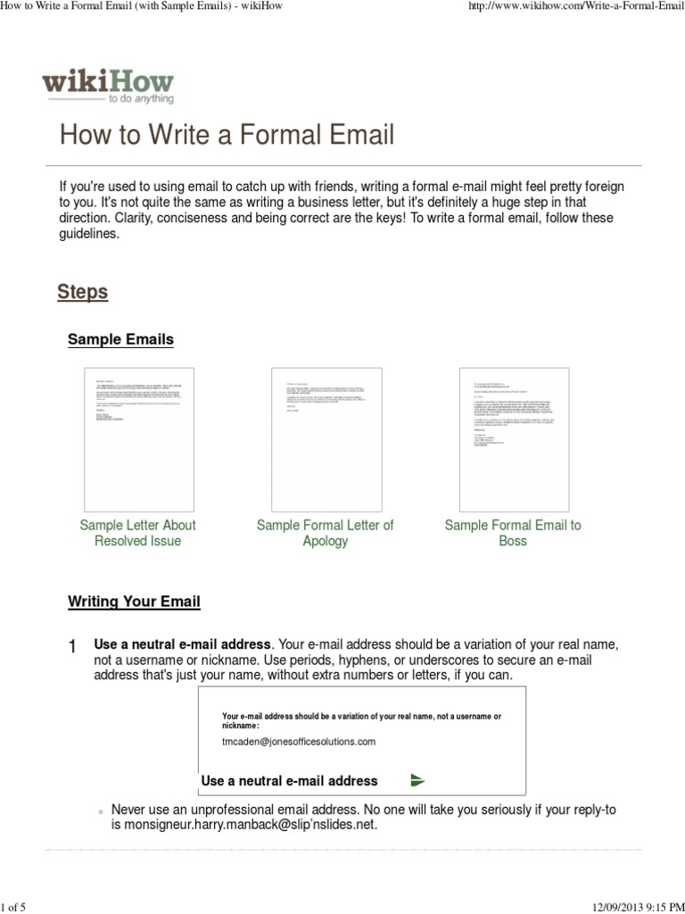 How to write a formal email with sample emails wikihow how to write a formal email with sample emails wikihow docshare altavistaventures Image collections
