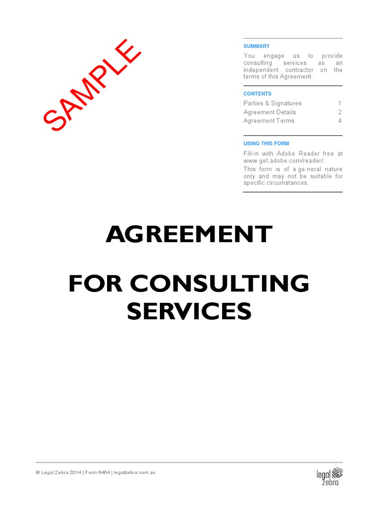 Consulting Service Agreement Template Free Professional