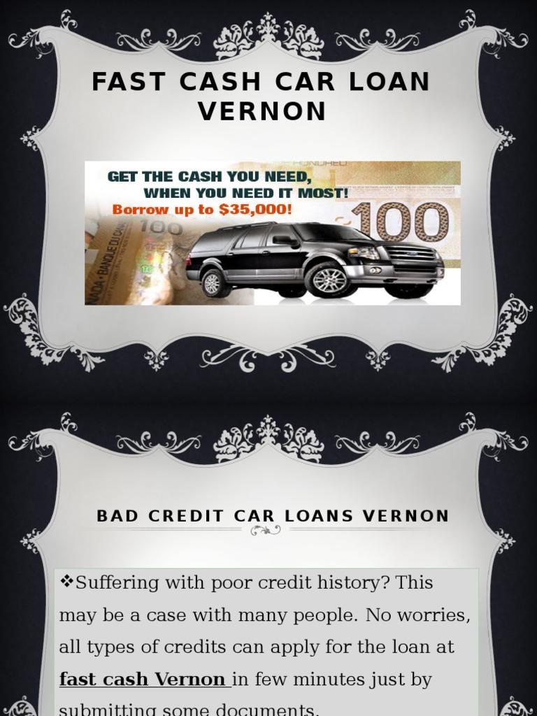Fast Cash Car Loans Vernon & Download Fast Cash Loans   Same Day Loans   Doorstep Loans ...