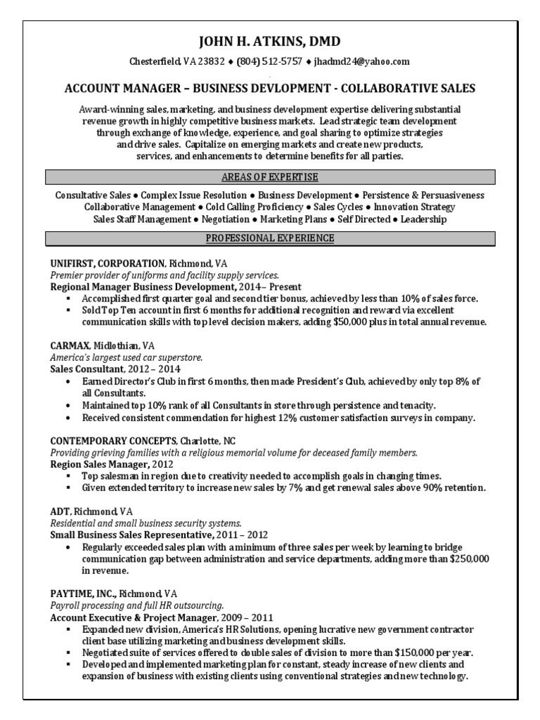 Download Manager Business Development Water in Fresno CA Resume John ...