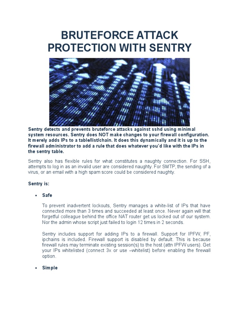 Download Bruteforce Attack Protection With Sentry - DocShare tips