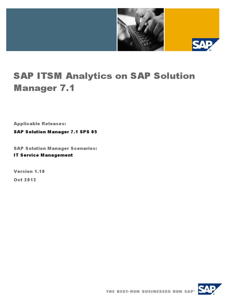 SAP ITSM Analytics on SAP Solution - DocShare tips