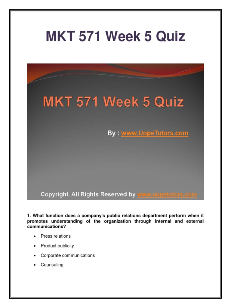 mkt 230 quizes Test your knowledge of blockchain, cryptocurrencies and technologies with our new quizzes get your result and share it with your friends to see who's the most well-educated.