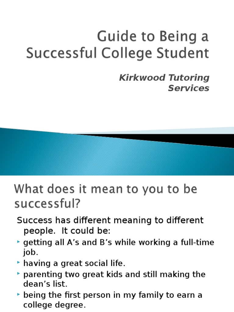how to be a successful college