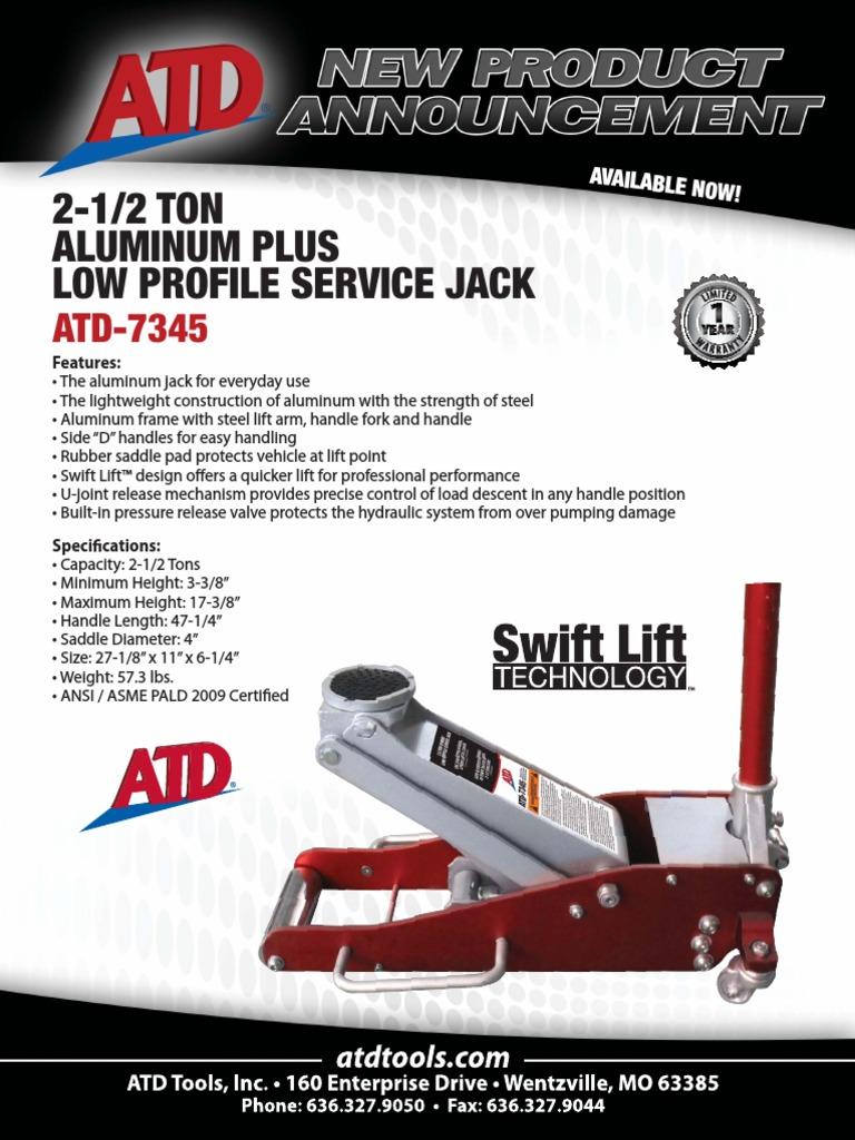 2.5 Ton Service Jack