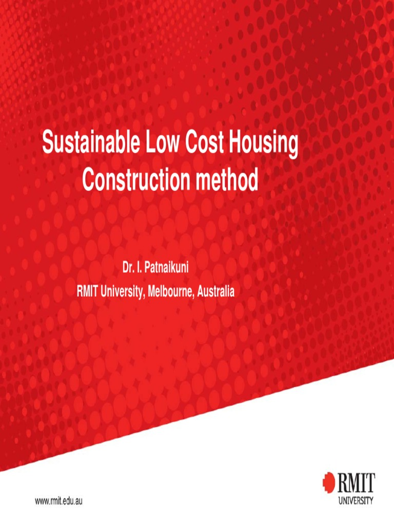 Low cost housing concrete jacketed earth wall building for Low cost housing construction techniques