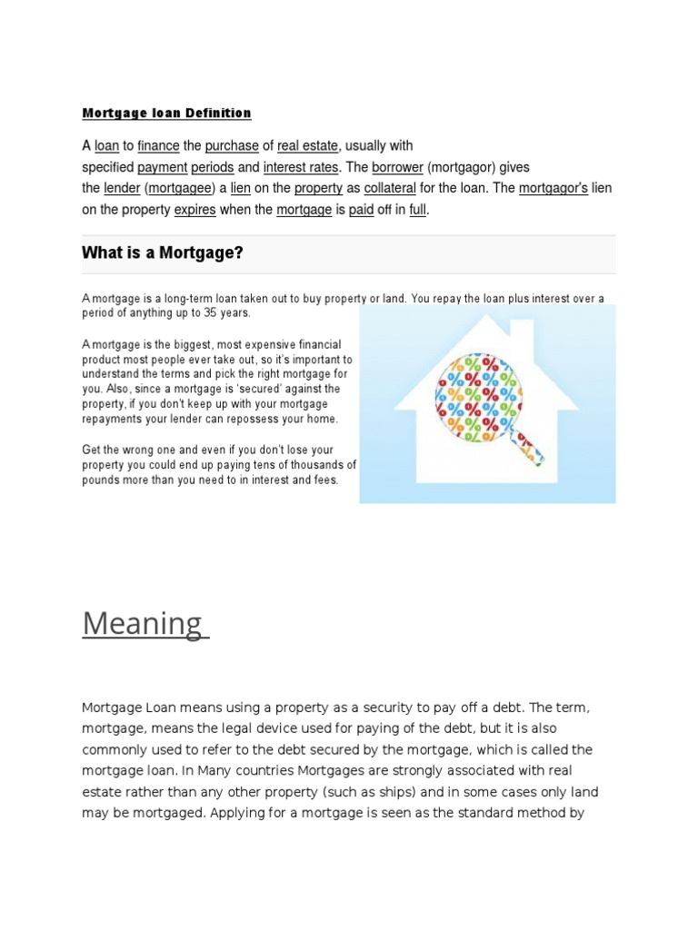 Mortgage loan Definition.docx - DocShare.tips