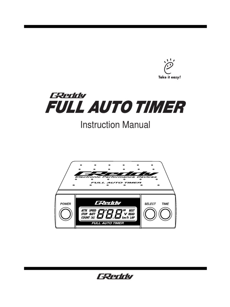 Greddy Turbo Timer Manual B D Fd A B Ae