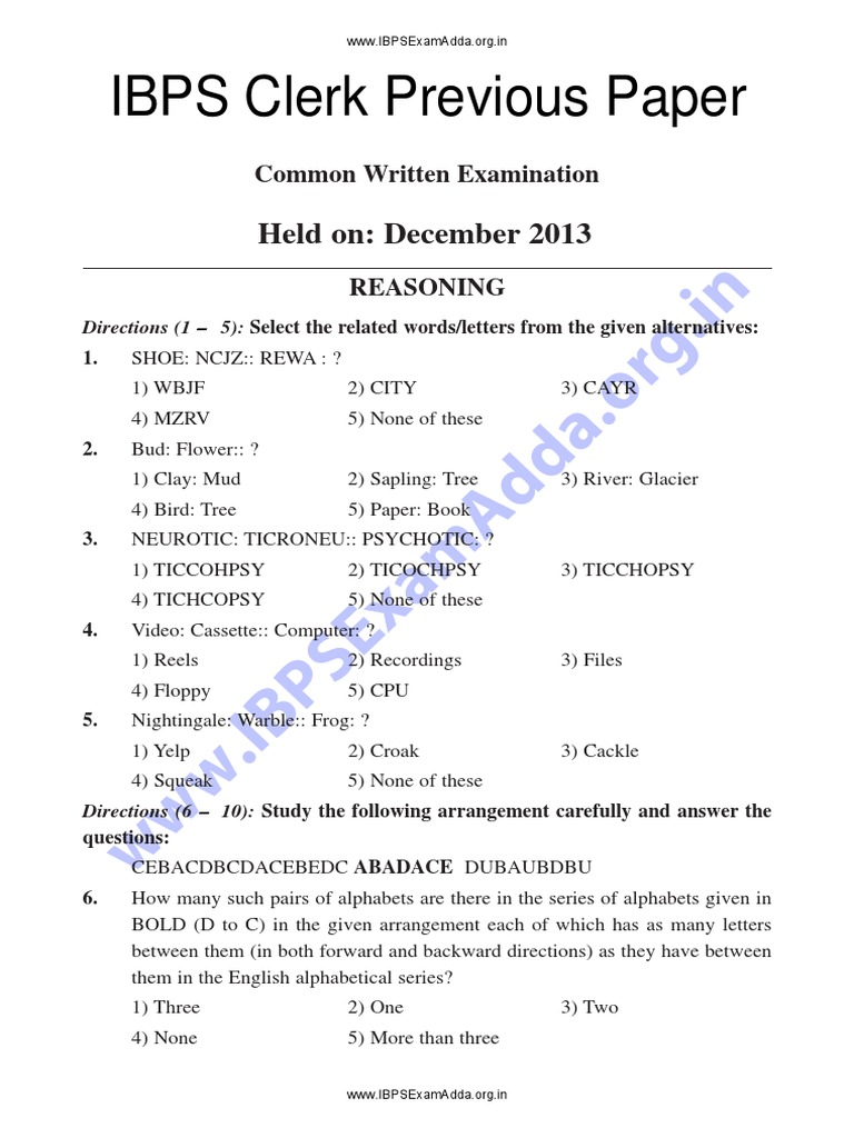 ibps sample paper tst Ibps po exam papers download ibps po previous year exam papers (paper) ibps: common written examination ibps sample papers.