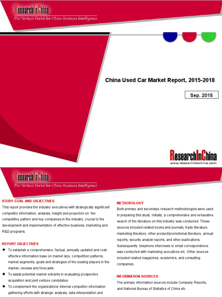 China Used Car Market Report, 2015-2018 - DocShare.tips