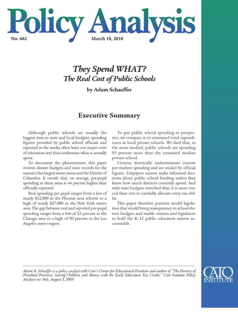 policy analysis on education