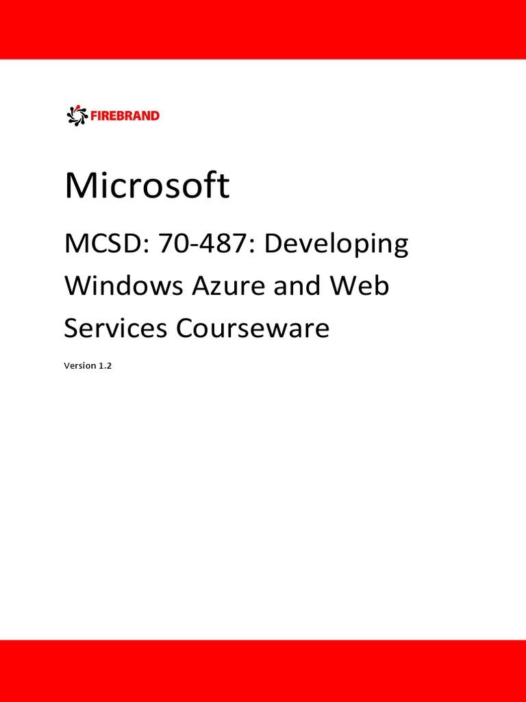 Mcsd Web Applications Certification Windows Azure Web Services