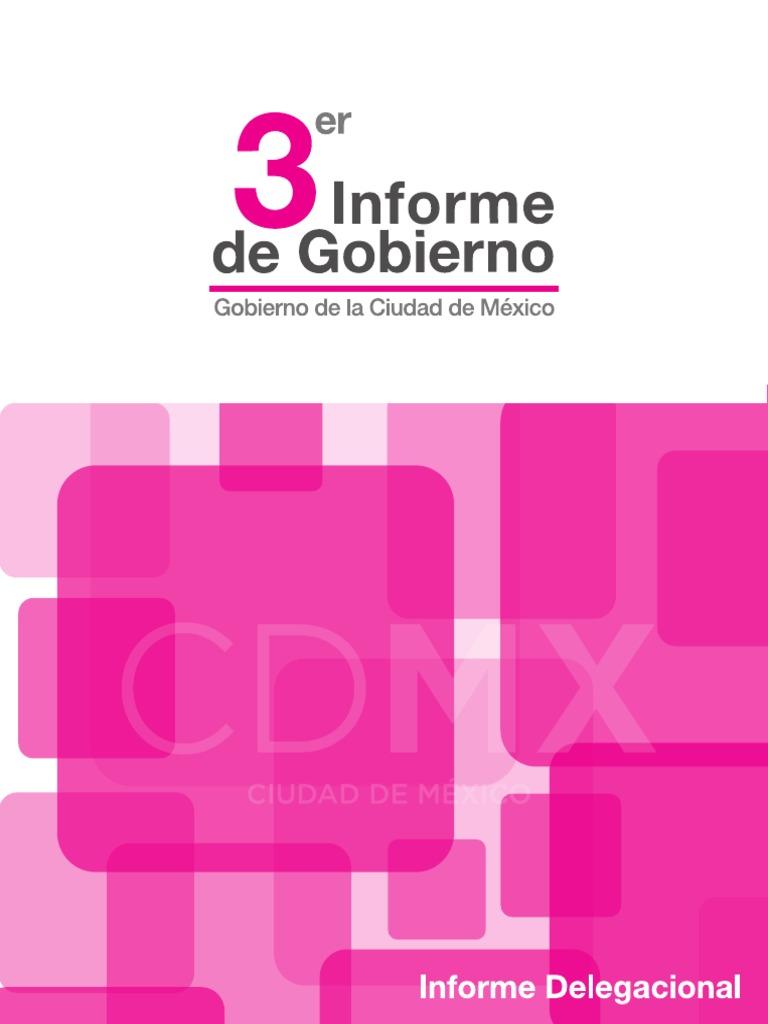 Informe Delegacional Iii Informe De Gobierno Miguel ángel