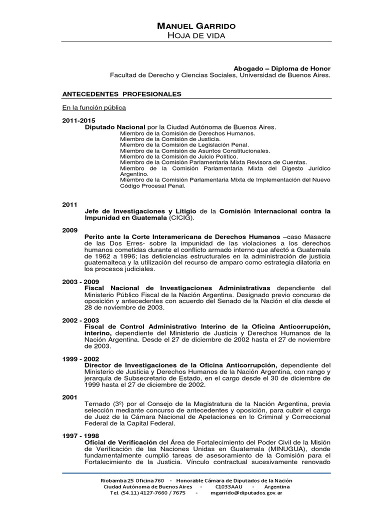 Curriculum Vitae Manuel Garrido - DocShare.tips