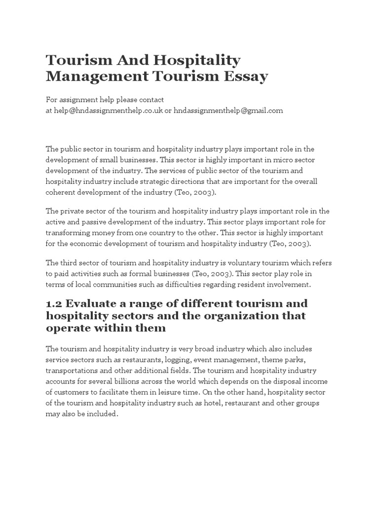 motivation of employees in the hotel industry tourism essay Research paper on tourism the tourism and hospitality industry has been research paper samples and example research papers on tourism writing.