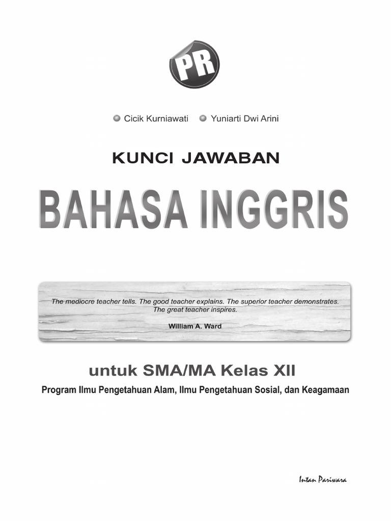 Kunci Jawaban PR Inggris 12 2013 pdf Doc