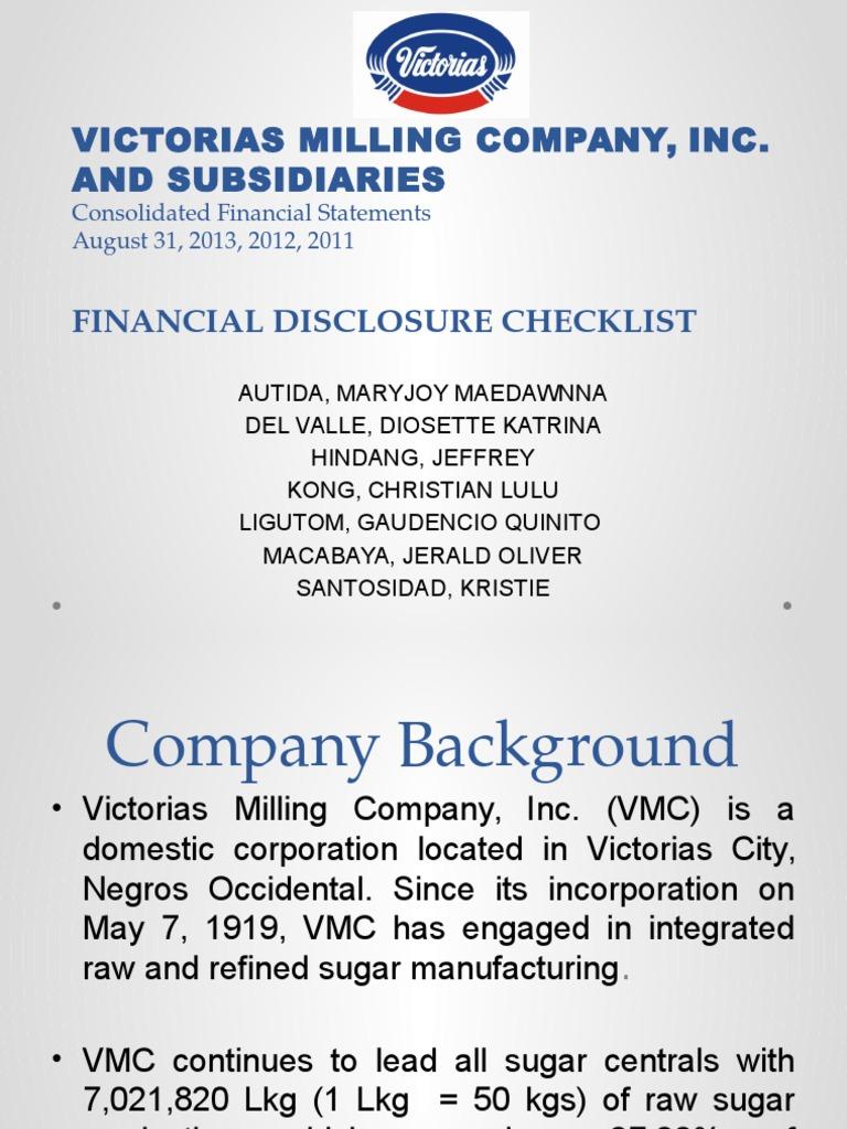 victoria milling company inc