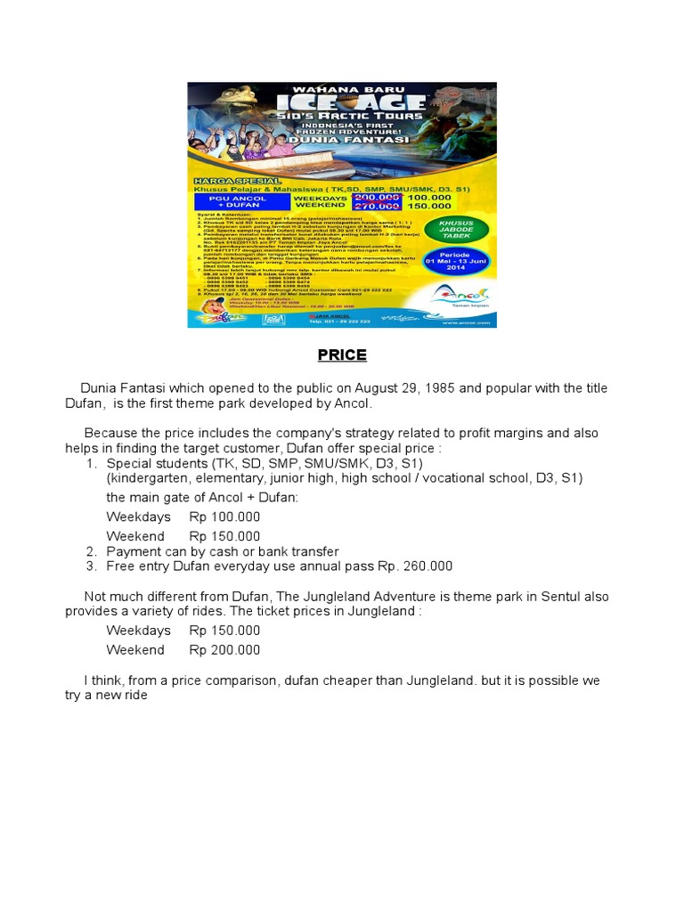 Price In 4p Annual Pass Jungle Land Sentul