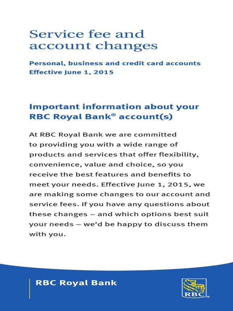 Download RBC Service Fees and Charges - DocShare.tips
