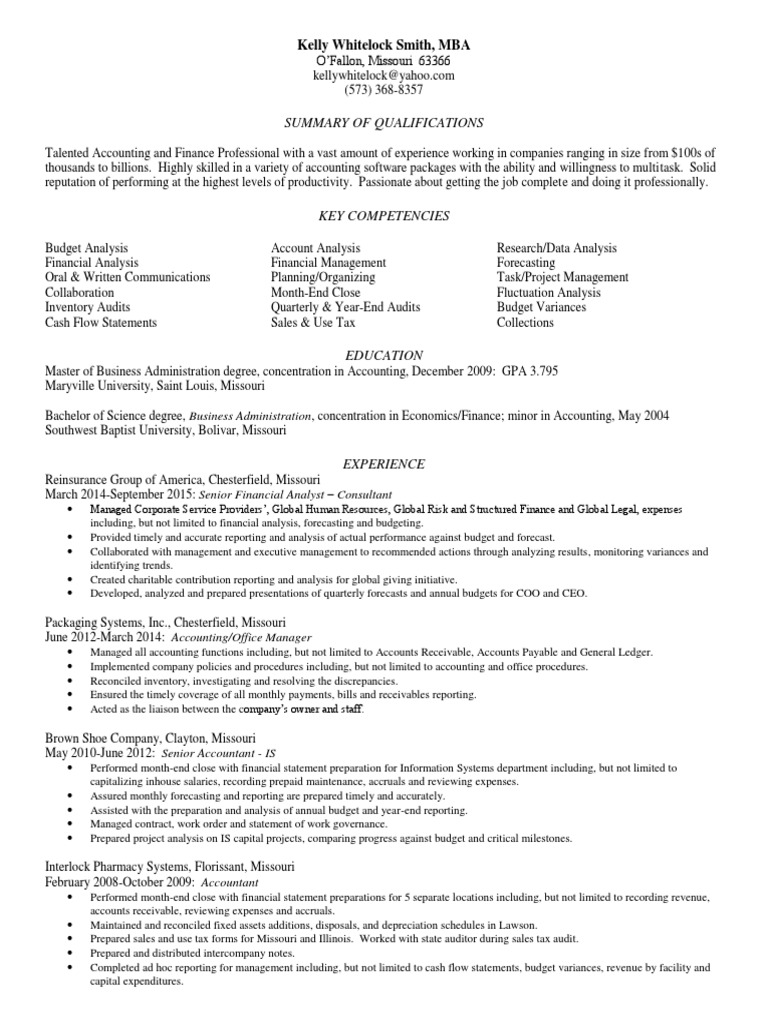 Old Fashioned St Louis Accounting Resume Ideas - simple resume ...