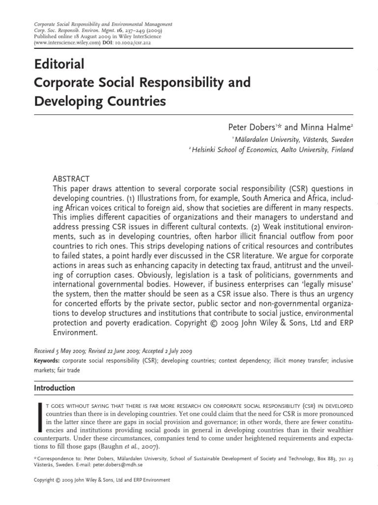 csr in developing countries pdf