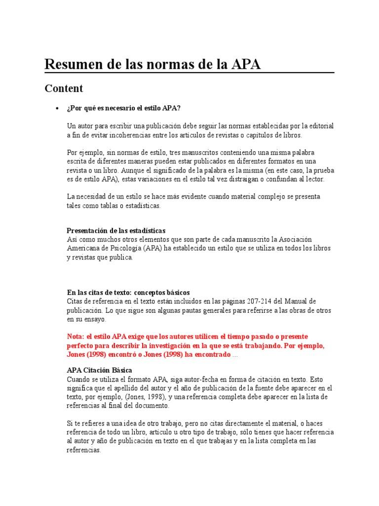 Resumen de Las Normas de La APA - DocShare.tips