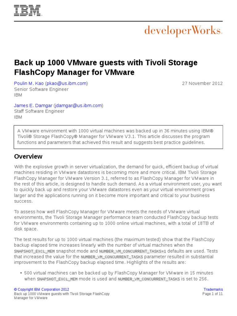 Sm Flashcopy Vmware Backup PDF - DocShare tips