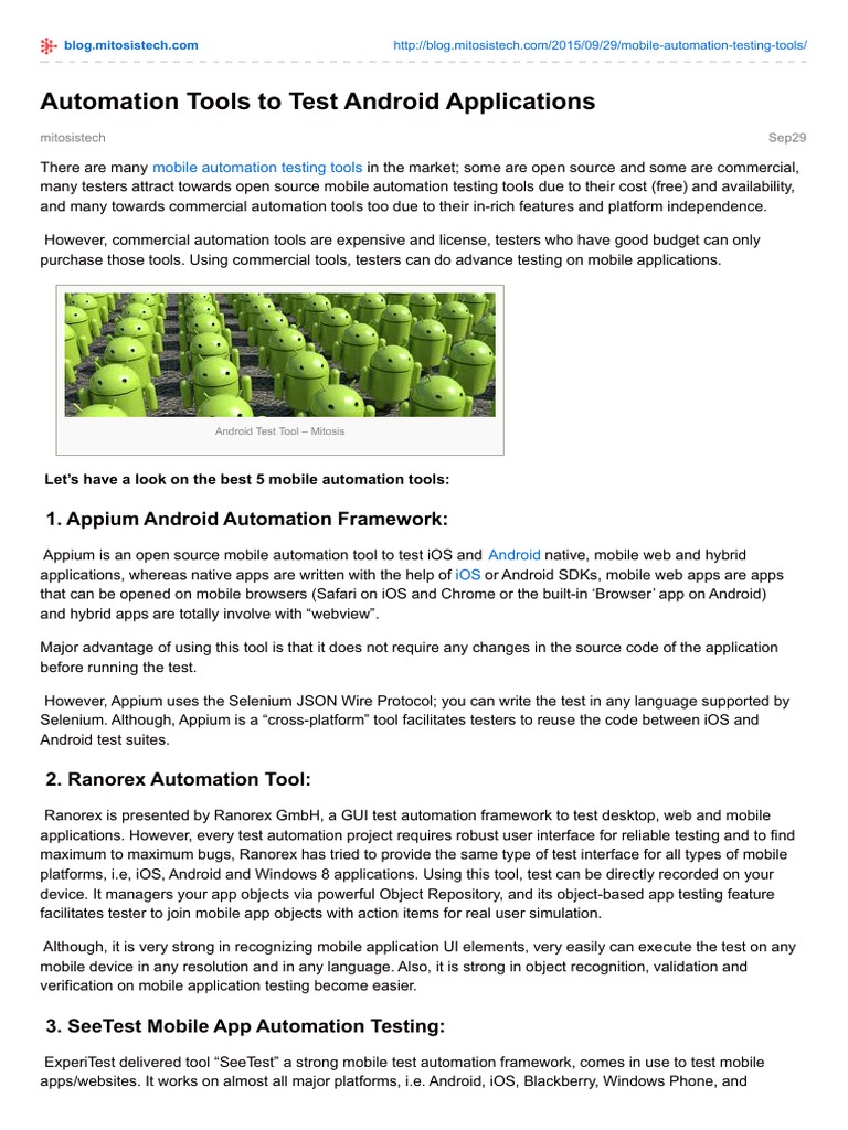Blog.mitosistech.com-Automation Tools to Test Android Applications ...