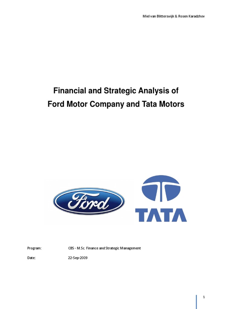 marketing analysis of the ford motor company Ford's marketing response to this environment is discussed the second part of the report aims to segment the market, primarily using benefit in april 2002 there was a fundamental change in the way company cars are taxed to help protect the environment linking the tax charge to the car's exhaust.