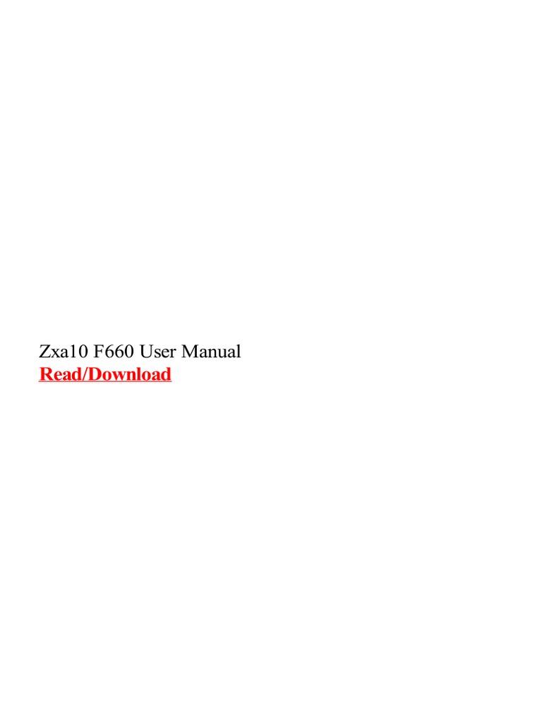 Zxa10 f660 User Manual - DocShare tips