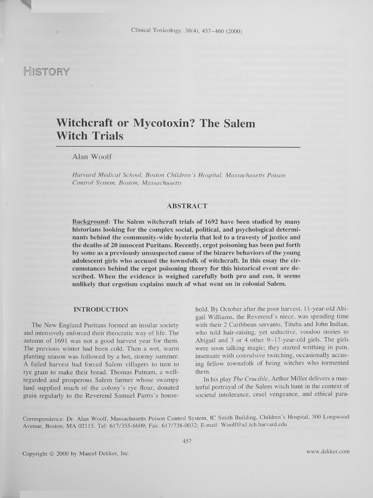 salem witch trials court papers This paper looks at the use of spectral evidence during the salem witch trials and the court followed a strong the legitimacy of spectral evidence during the.