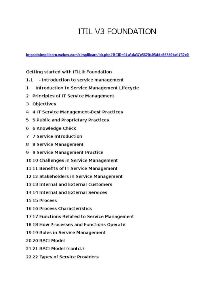 Download Itil V3 Foundation Overviewpdf Docshare