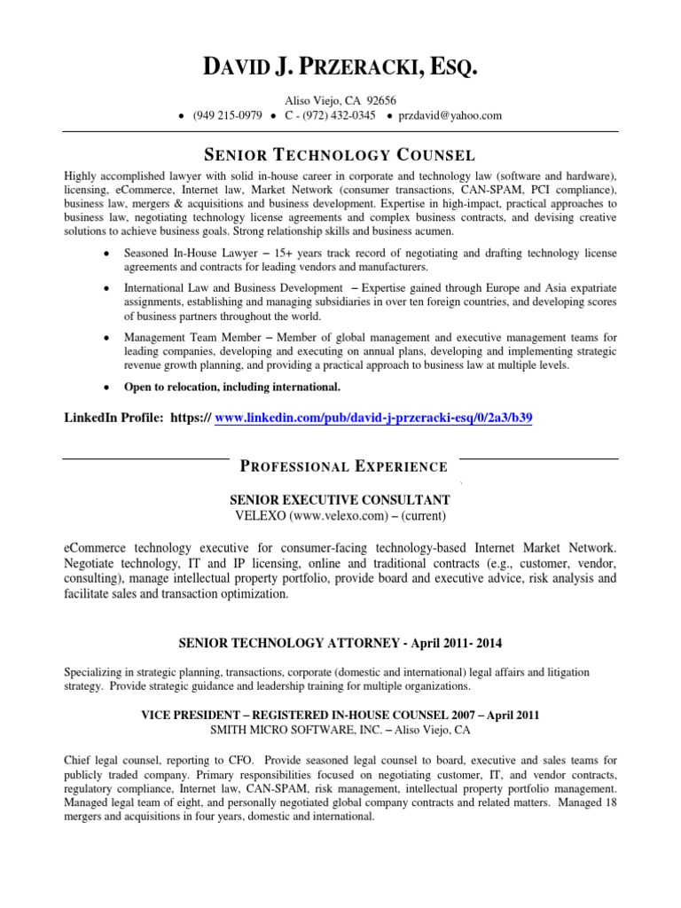 general counsel resume tips 28 images combination
