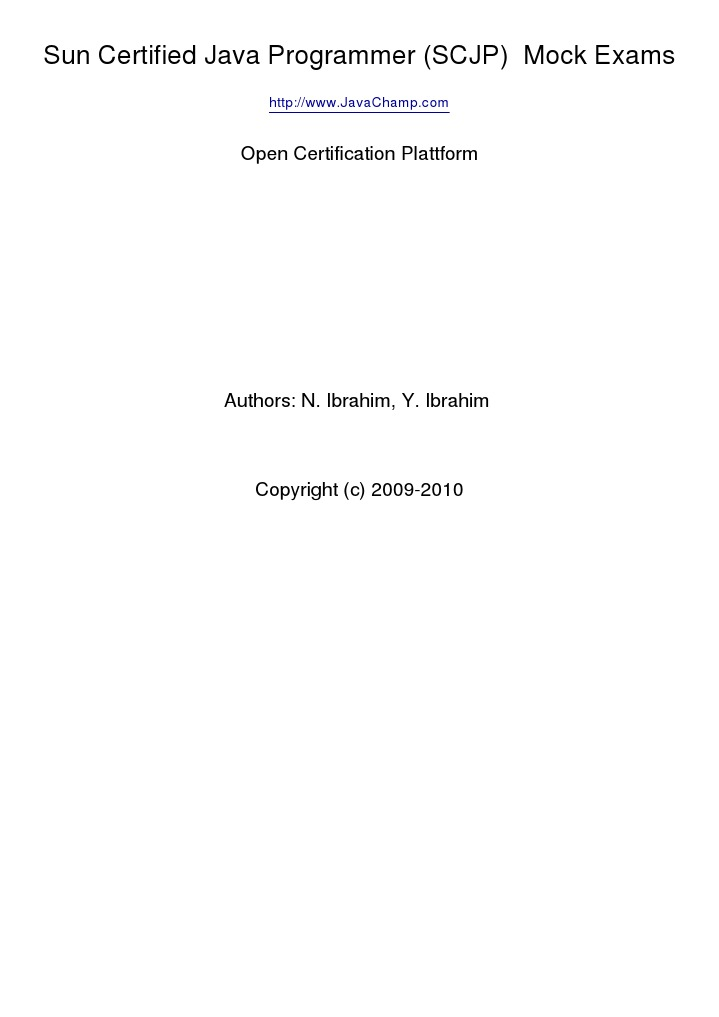 Download Sun Certification SCJP - DocShare.tips