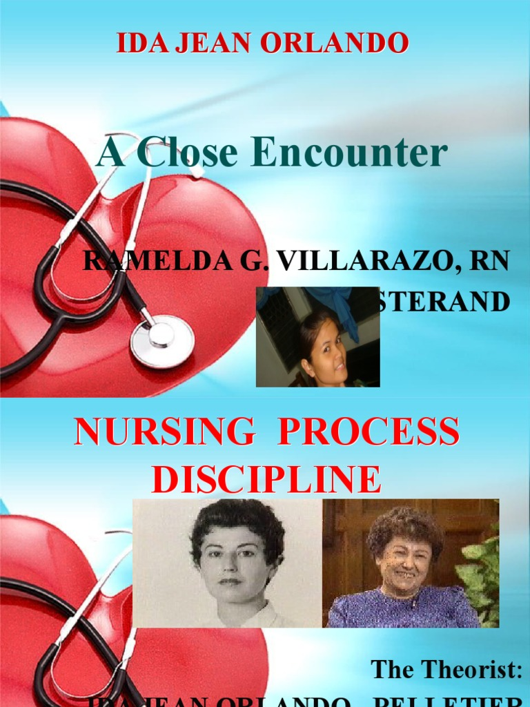 ida jean orlando theory power point Ida jean orlando-pelletier nursing process theory one method of viewing the theory: orlando's nursing process theory can be represented by an origami design.