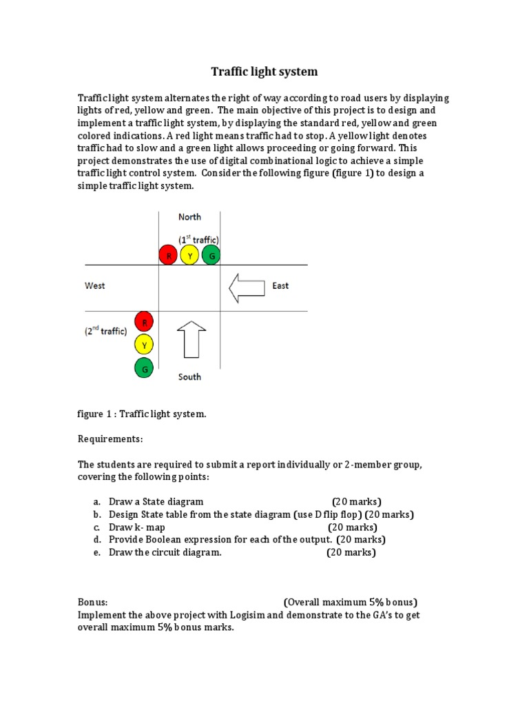 Uwindsor Traffic Light Sytem Dld Final Assignment D Ff Circuit Diagram