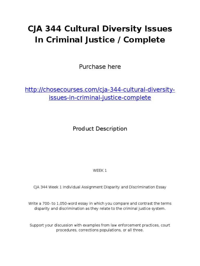 cultural diversity in criminal justice outline and references The most prominent cultural diversity issue in american criminal justice is the perception of and wwwreferencecom cultural diversity issues in criminal.