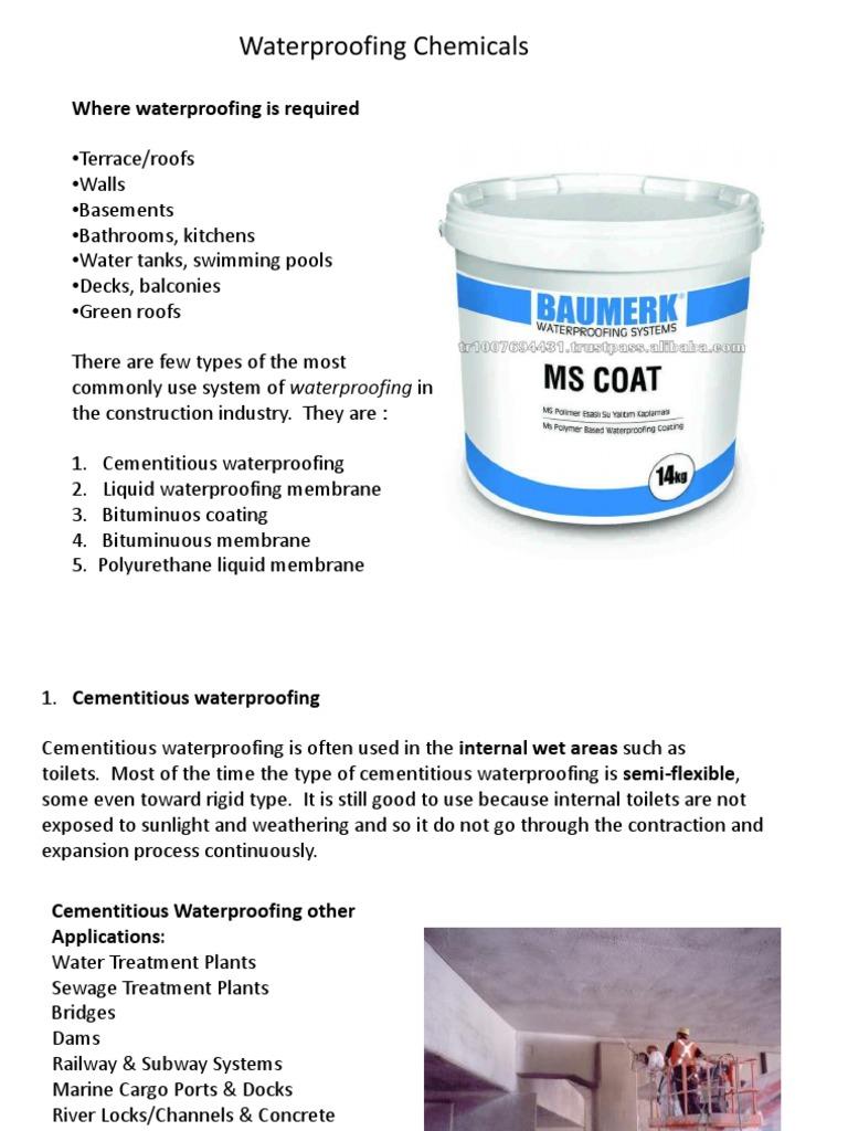 Waterproofing,Bitumen,Glazing - DocShare tips