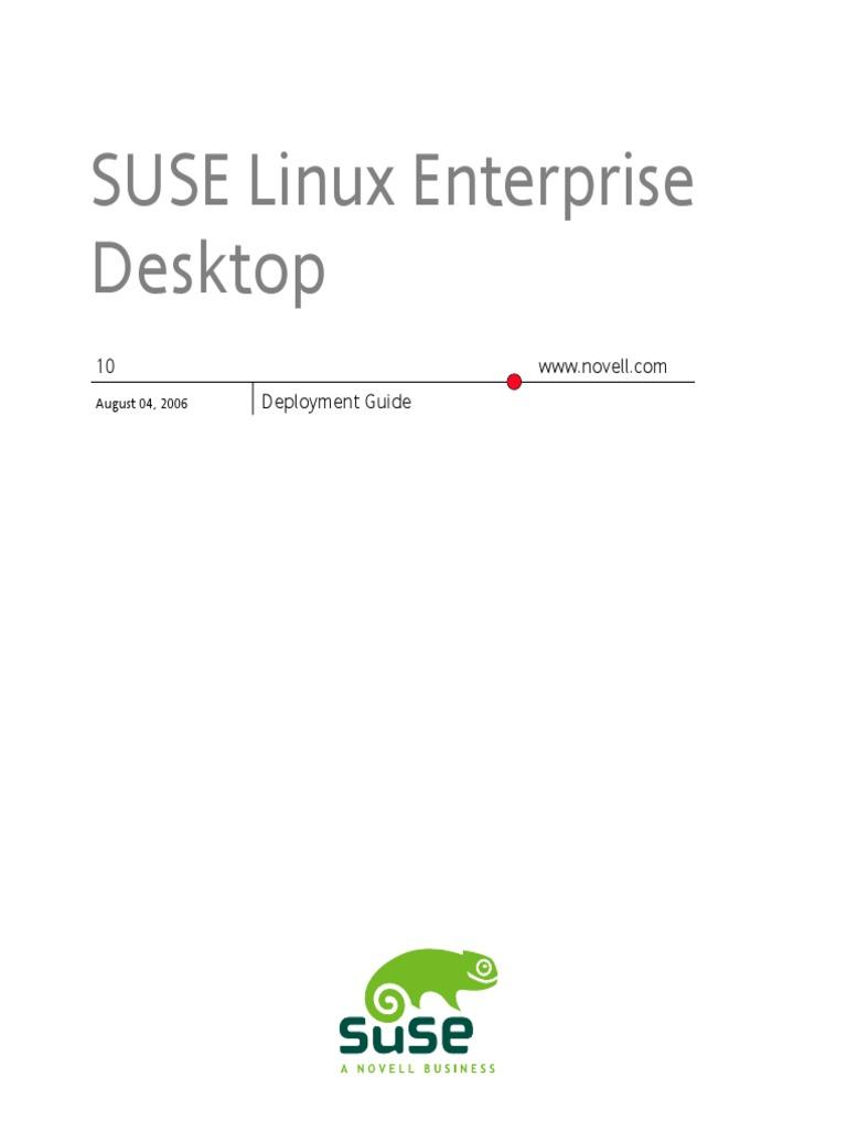 Download SUSE Linux Enterprise Desktop 10 KDE user Guide