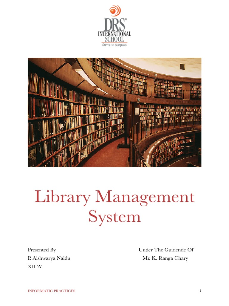 introduction of library management system project report Get full project on the library management system in c++ with project report and source code  about library management system project : objective of project : to provide a library management system for college library, which would provide all library functions.