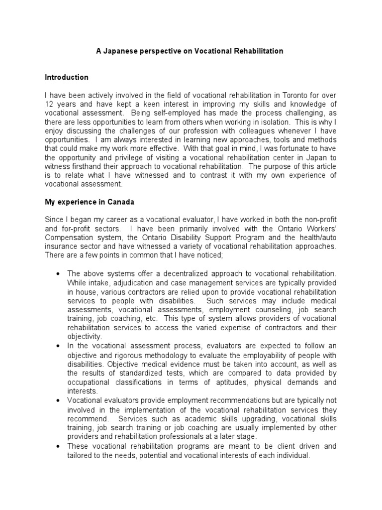 a study on the purpose and effect of supported employment on vocational rehabilitation Article on supported employment is a multisite research study of innovative programs that combine vocational rehabilitation study background, purpose.