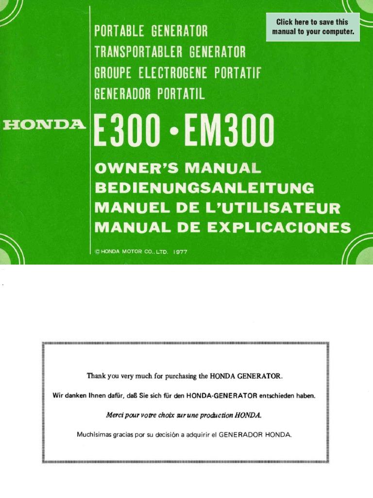 Download Generador Stamford Hci534f E300 Honda Generator Wiring Diagram Manual