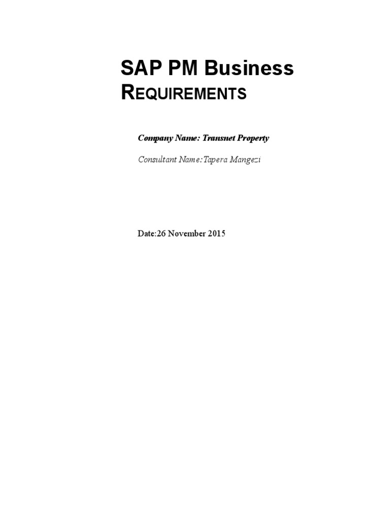 Download sap plant maintenance pm business blueprint bbp docshare sap pm business needs malvernweather Gallery