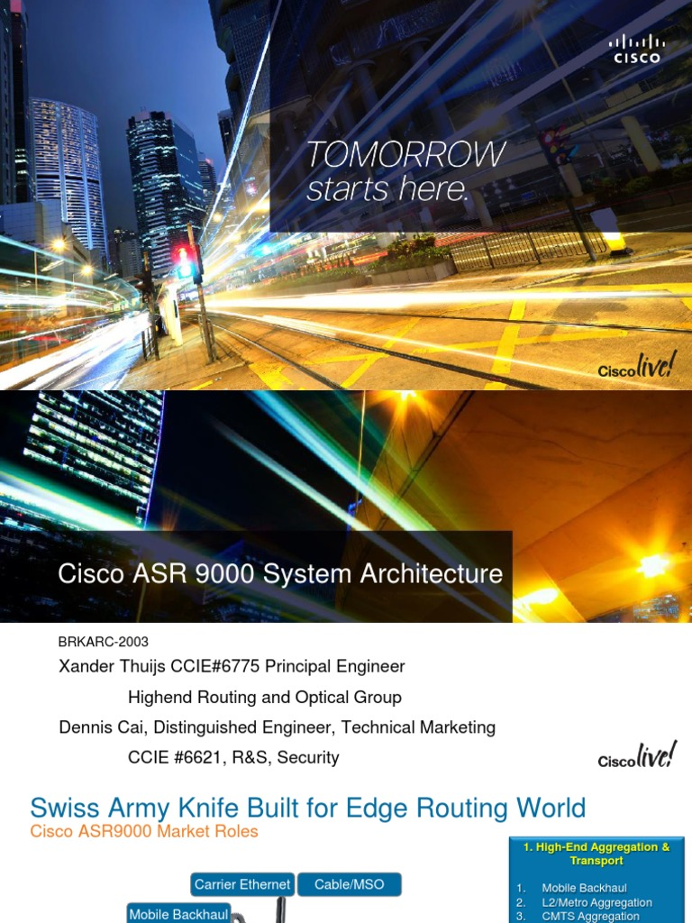 Cisco ASR 9000 System Architecture - DocShare tips