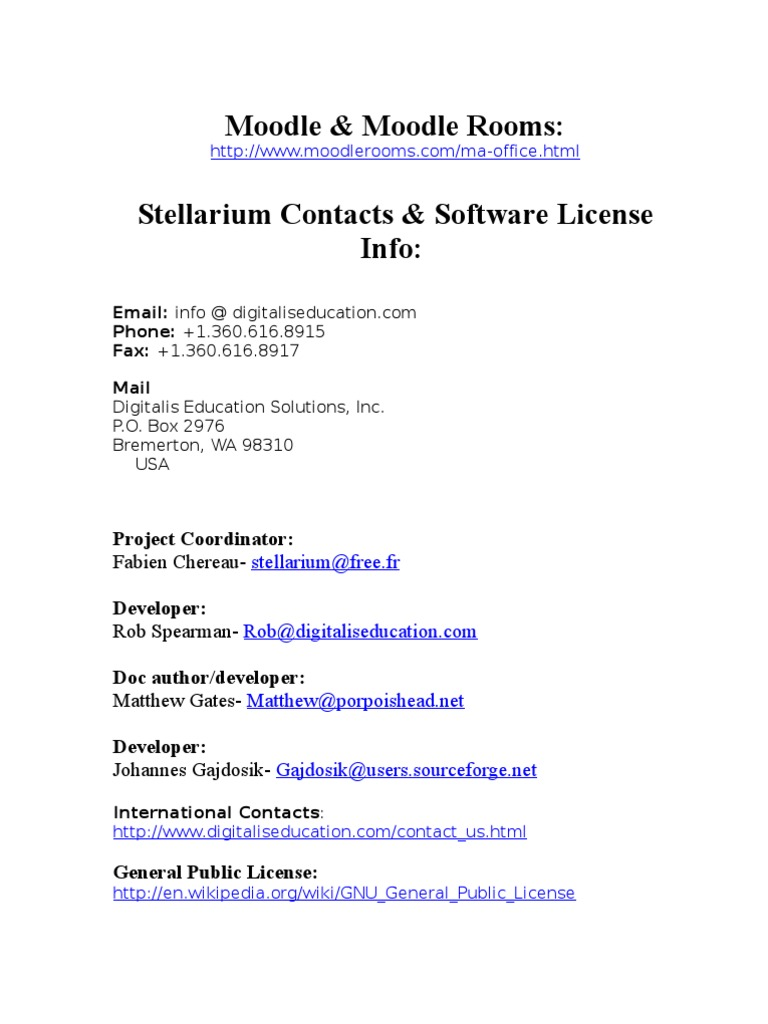 Stellarium Sourceforge