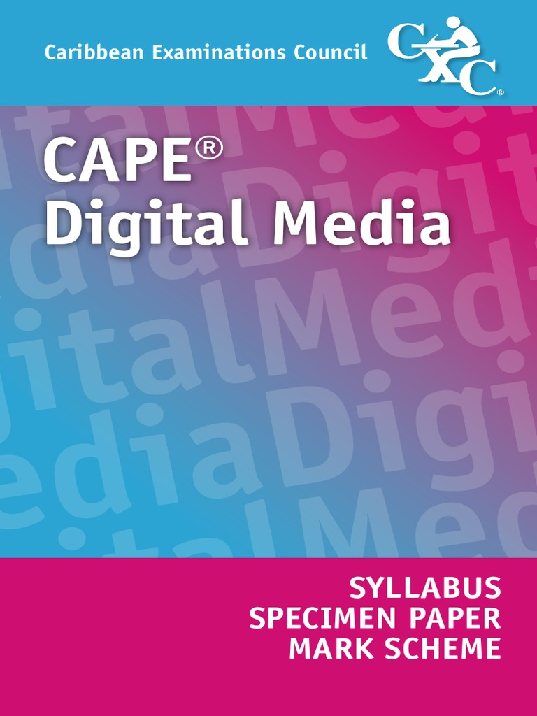 Cxc cape digital media syllabus and specimen paper docshare fandeluxe Gallery