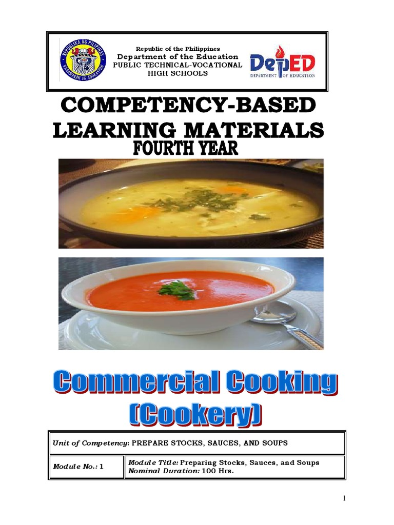 10 LM TLE Commercial Cooking (Cookery) - DocShare tips